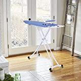 OKBOP Tabletop Ironing Board, 48x15in Foldable Adjustable Home Ironing Board and Thick Cotton Padding with Sturdy T-Legs