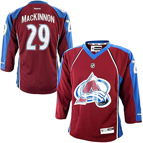 Reebok Nathan MacKinnon Colorado Avalanche Burgundy NHL Youth Home Replica Jersey (Youth Large/X-Large)