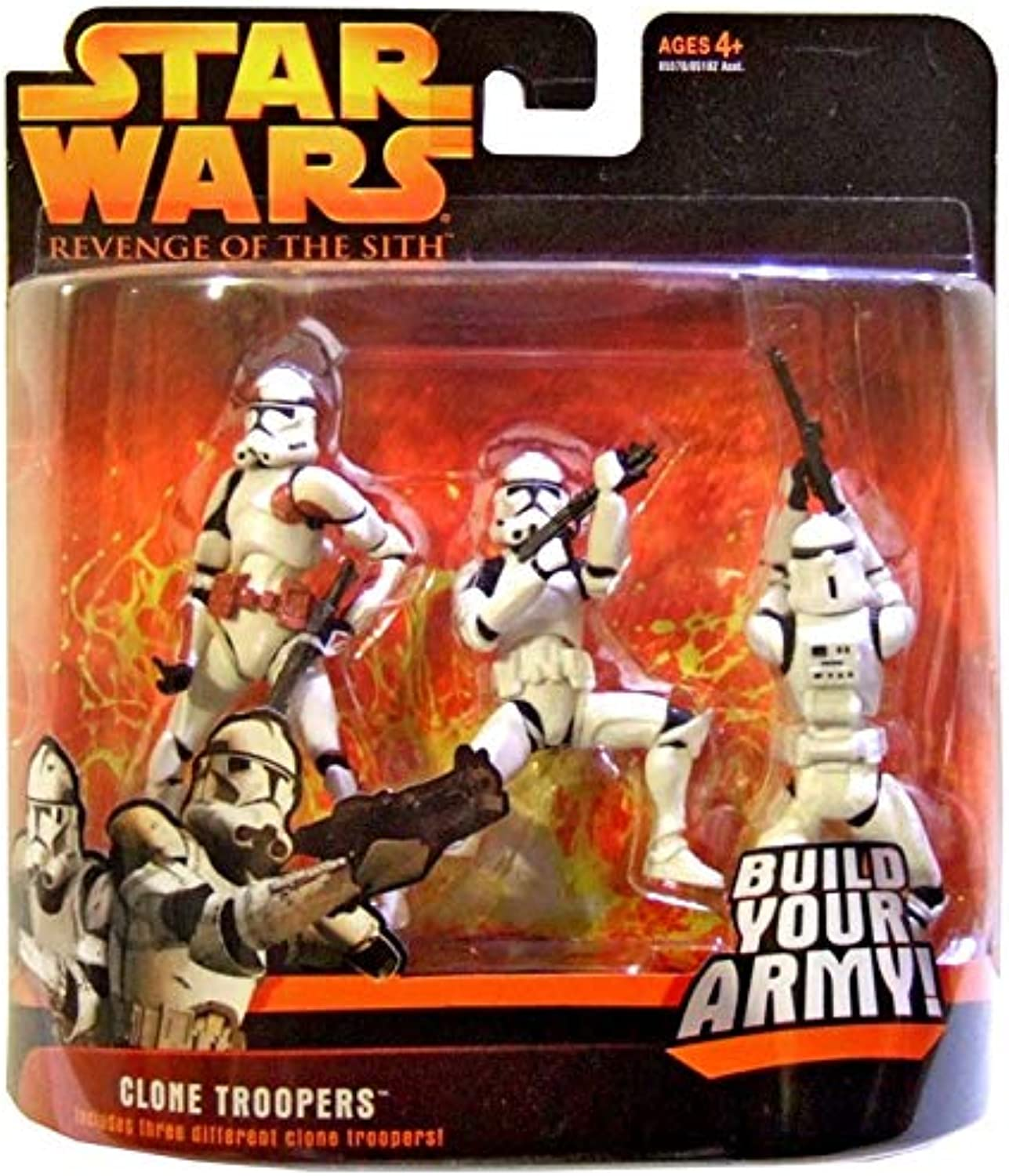Star Wars Revenge of the Sith Clone Trooper rot Rust Variant Army 3-Pack Deluxe Figure by Hasbro