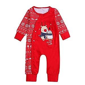LILIHOT Weihnachten Neugeborenes Baby Jungen Mädchen Hirsch Strampler Overall Outfits Kleidung Setbrief Gedruckt Spielanzug Sport Hosen Soft Cap Prinzessin Set