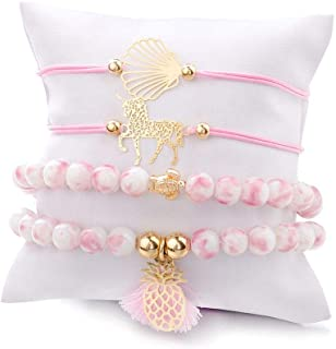 Unicorn Turtle Shell Pineapple Bracelet Set European and American Wind Braided Bracelet Set Ladies Bracelet Set Girl Brace...