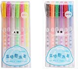 ISAKEN 3D Glossy Jelly Ink Pen Set, Jelly Roll Blister Card Gel Ink Pen, Colorful Pen for Bullet Journal Writing, Pluma...