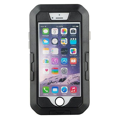 Eximtrade Fahrrad Handy Halterung Stoßfest Wasserdicht für Apple iPhone 7 Plus (Schwarz)