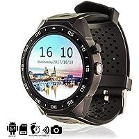 "DAM TEKKIWEAR. DMX029BLACK. Smartwatch Phone Kw88 con Sistema Operativo Android 5.1, Cámara 3Mpx, Wi-Fi, Sim. Pantalla Tft Táctil 1.33"" 400X400Px. Negro"