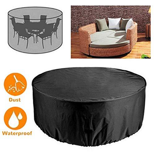 YOUTH BURST Protección UV Redonda Impermeable A Prueba De Polvo Muebles De Exterior Juego De Cubierta De Mesa De Jardín,190T-185X110CM
