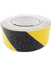 Gebildet Cinta Antideslizante Seguridad, Cinta Adhesiva Respaldados, Alta Tracción Fuerte Apretón Abrasivo, Usar Interiores y Exteriores (10M × 5cm, Negro y Amarillo)