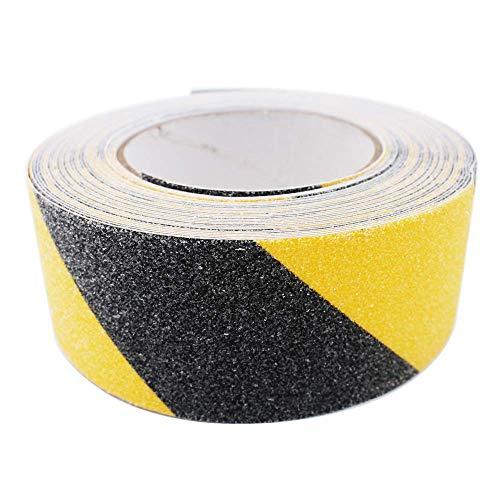 Gebildet Premium Qualität Antirutsch Klebeband 10m × 5cm, Antislip selbstklebend Band, Grip Tape Sicherheitsband fur Treppen/Schritte (Schwarz und Gelb)