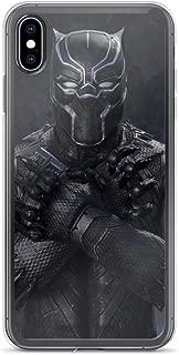 iPhone 7 Plus/8 Plus Pure Anti-Shock Clear Case Black-Panther Classic Black Suit King of Wakanda Africa Stan Lee Movie Shield Avengerss Comic Superhero