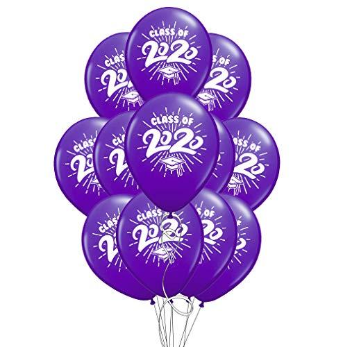 School Colors Graduation 11' Latex Balloons - Pack of 12 (2020, Purple)