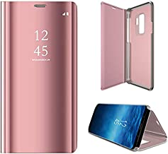 Anyos Galaxy S9 Plus Case, Half-Clear View Standing Mirror Flip PC Cover for Samsung Galaxy S9+