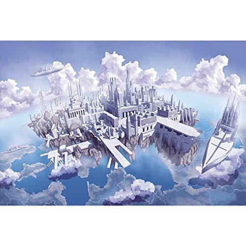 GuDoQi Puzzle 1000 Piezas Adultos Rompecabezas Madera Castillo del Cielo para Infantiles Adolescentes