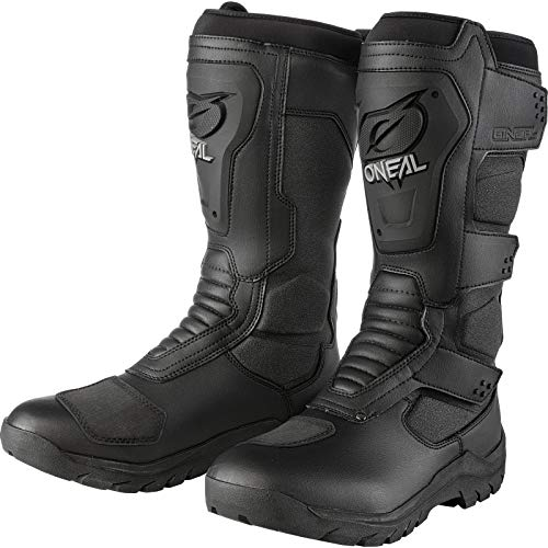 O\'NEAL | Motorrad-Stiefel | Enduro Adventure | Wasserdichter Tourenstiefel, Schienbeinschutz aus thermoplastischem Gummi, Voll gummierte Außensohle | Sierra Boot | Erwachsene | Größe 45