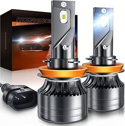 H11/H9/H8 LED Headlight Bulbs, Mirozo 12000 Lumens Super Bright light Conversion...