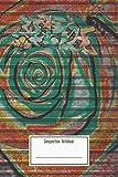 Composition Notebook: Rose Graffiti Art On Black Metal Shutter Workbook for Teens Kids Students Girls for Home School College