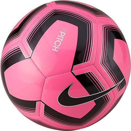 Nike Unisex's Pitch Training Soccer Ball Football, Pink Blast/Black, 5