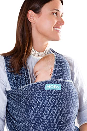 Moby Evolution Baby Wrap Carrier (Batik Multi) - Toddler, Infant, and Newborn Wrap Carrier - Wrap Baby Carrier Ideal for Parents On The Go - Ergonomic Baby Wrap for Mom Or Dad - A Registry Must Have
