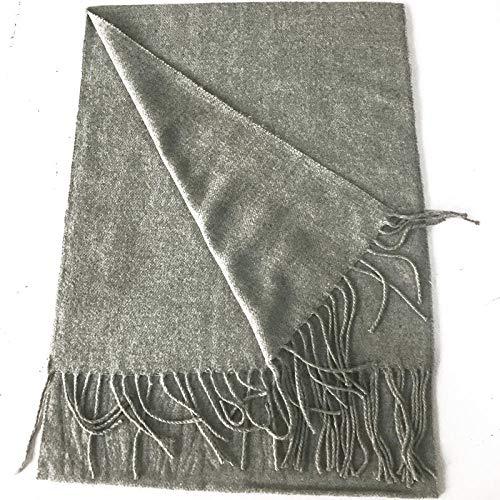 Bufanda de cachemir de imitación a cuadros en blanco y negro bufanda para hombre actividades regalos regalos barba larga bufanda de color sólido de tamaño pequeño-Pañuelo pequeño gris claro