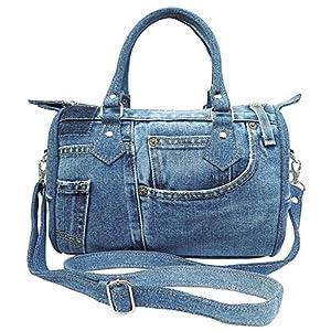 Classic Blue Denim Jean Doctor Style Women Handbag