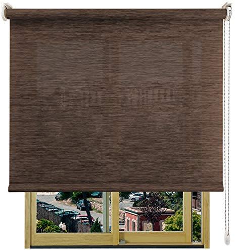 EB ESTORES BARATOS Estor Enrollable Bambú-Decor/Tamizador de luz con Transparencia y Textura del bambú. Elija su Medida de Ancho x Alto. Color: Bambú Wengué. Medidas: 172cm x 140cm