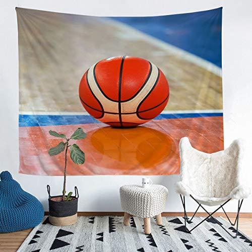 Manta de baloncesto para pared, diseño deportivo, para niños, niñas, 3D, diseño de bola en 3D, para colgar en la pared, atleta competitiv, decoración de la habitación, tamaño mediano, 128 x 159