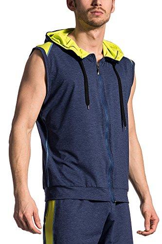Olaf Benz RED1710 vest met capuchon, hoodyvest met rits, workout