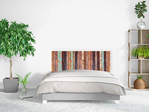 Cabecero Cama PVC Impresión Digital | Imitación Madera Vieja Vertical 150 x 60 cm | Cabecero Original y Económico