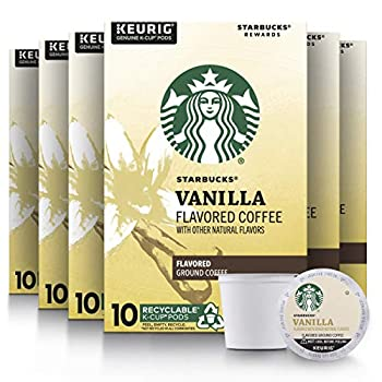 Starbucks Flavored K-Cup Coffee Pods — Vanilla for Keurig Brewers — 6 boxes  60 pods total