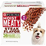Purina Moist & Meaty Wet Dog Food, Steak Flavor -...