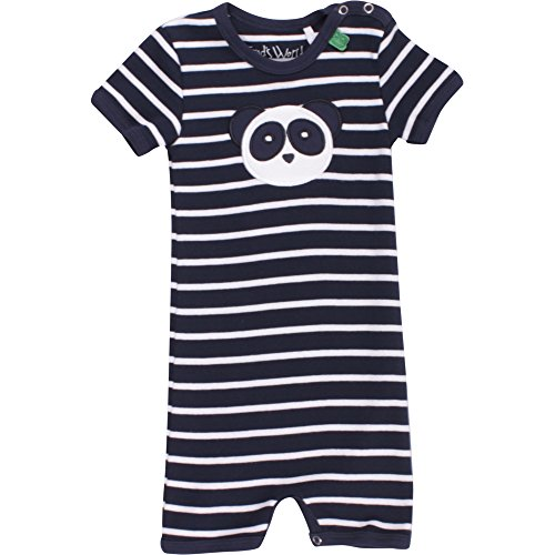 Fred'S World By Green Cotton Panda Stripe Beach Body, Bleu Marine (019392001), 6 Mois Bébé garçon