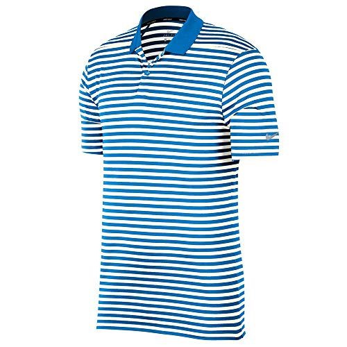 Nike M Nk Dry Vctry Poloshirt für Herren L Foto Blau/Segel/Schwarz