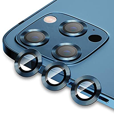 "Compatible with iPhone 12 Pro Max (6.7"") Camera Lens Protector, Tiietone HD Anti-Scratch [Aluminum Alloy] Camera Lens Tempered Glass Screen Protector Case Friendly"