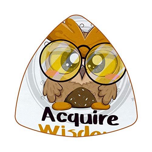 Cute Baby Owl Acquire Wisdom Juego de 6 Posavasos para Bebidas para el hogar, Taza, Botella, Taza, café, Cerveza