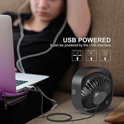 RATEL 4.84In Mini-Schreibtisch Ventilator mit