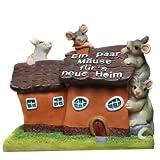 Udo Bremen GmbH wunderschöne Spardose,Spardose,Sparschwein,Einweihungsgeschenk Haus mit Mäusen EIN Paar Mäuse für's Neue Heim mit Pfropfen