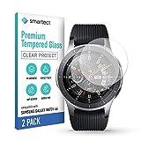 smartect Cristal Templado para Móvil Samsung Galaxy Watch 46 mm [2 Unidades] - Protector de pantalla 9H - Diseño ultrafino - Instalación sin burbujas - Anti-huella