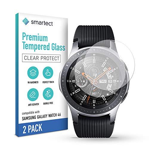 smartect Pellicola Protettiva per Samsung Galaxy Watch 46 mm [2 Pezzi] - 9H Vetro Temperato Proteggi Schermo - Design Ultra Sottile - Applicazione Anti-Bolle - Anti-Impronte