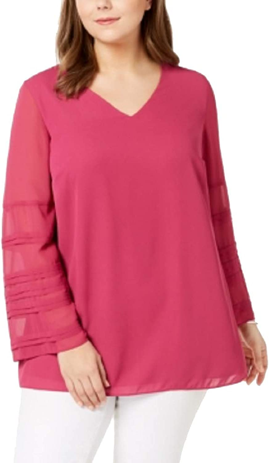 Alfani Plus Size IllusionSleeve Top
