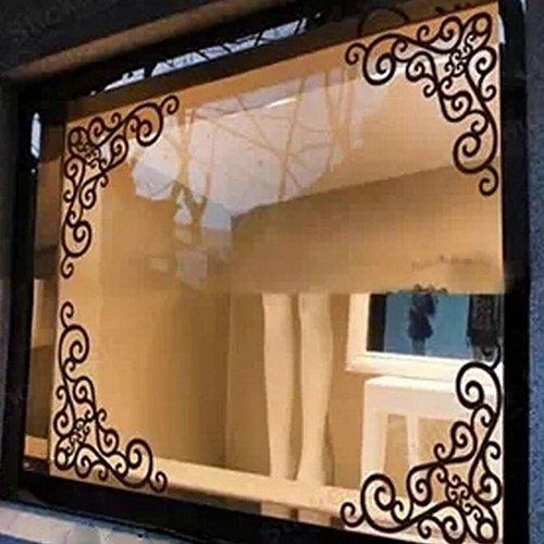 dontdo Wandaufkleber für Fenster, Badezimmer, Spiegel, Ranke Multi