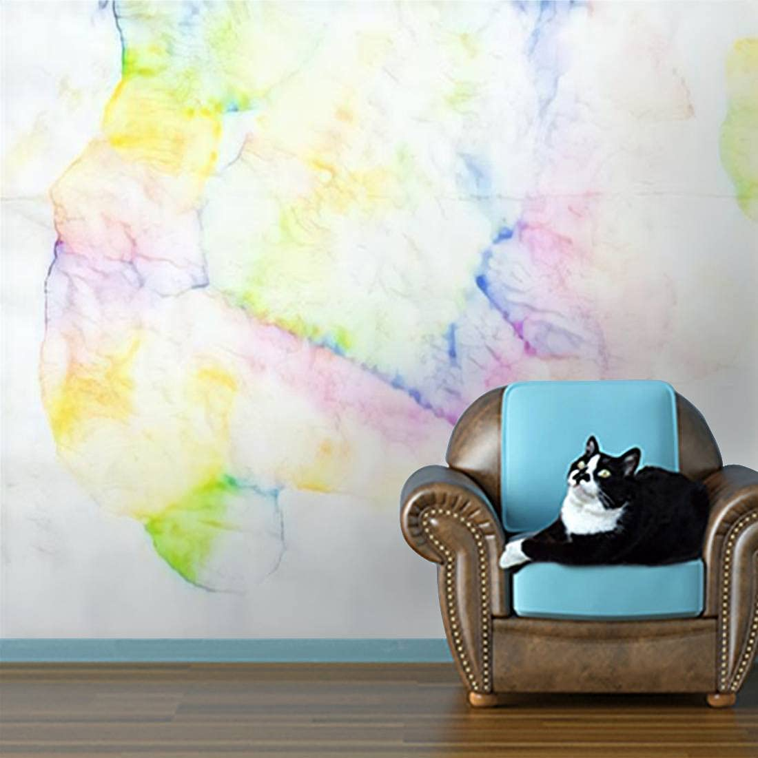 Wallpaper Popular standard Rainbow Abstract Mark Ink Stain Wash Max 55% OFF Water Effe Colour