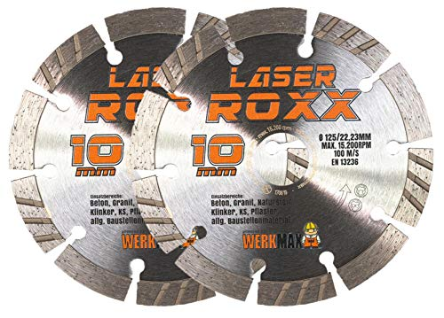 2er-Set | Neuentwicklung: Laser ROXX Diamantscheibe 125 mm | universal