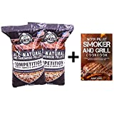 Pit Boss (2 Pack Competition Blend BBQ Wood Pellets - 40 lb Resealable Bag with Pellet Barbeque Cookbook