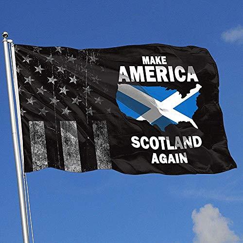 Elaine-Shop Banderas al aire libre Bandera de EE. UU. Gastada Hacer América Escocia nuevamente Bandera de 4 * 6 pies para decoración del hogar Fanático de los deportes Fútbol Baloncesto Béisbol Hockey