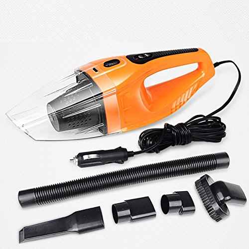 Auto Staubsauger 12V 200W Orange Handheld Portable Auto Staubsauger Wet & Dry Auto Dustbuster mit 16,4 ft (5M) Netzkabel