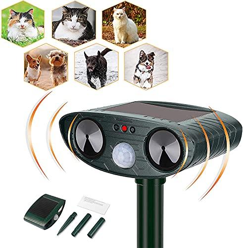 Katzenschreck Ultraschall Solar Tiervertreiber, Ultraschallvertreiber, Ultraschallabwehr, Katzenabwehr, Hundeschreck, Marderschreck, Ultraschallschreck, Katzenvertreiber