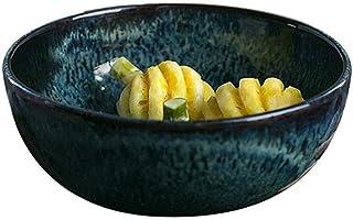 Bowl Ceramic bowls, stone fruit salad bowl creative dishes bowl of soup bowl large fruit plate retro tableware, kitchen wi...