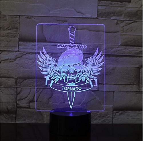 Rutschen Halloween Dekor Adler Schädel Alien D Nachtlicht Tornado Birne LED USB RGB Stimmung Mehrfarbige Luminaria Kinder Spielzeug Dropship Geschenke