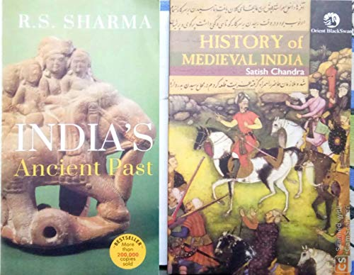 History of Medieval India by Satish Chandra & India's Ancient Past by RS Sharma- Combo