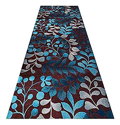 Langer Flur Hall Runner schmaler Teppiche Runnerteppich für den Flur, schmale Lange Teppiche für Wohnzimmertreppe, rutschfeste Niedrighaufen-Eingangsmatte, benutzerdefinierte Länge Mode