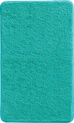 Erwin Müller Badematte, Badteppich, Badvorleger Uni rutschhemmend Mint Größe 50x80 cm - ultraweich, extrem saugfähig, flusenarm (weitere Farben, Größen)
