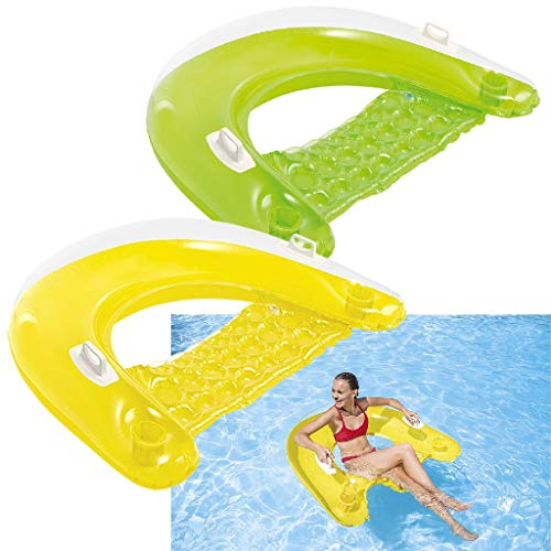 Intex Sit N Float Inflatable Lounge, 60' X 39', (Colors May Vary), 1 Pack